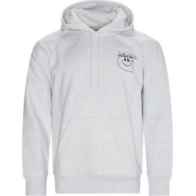 Hooded Smiley Sweatshirt Regular fit | Hooded Smiley Sweatshirt | Grå